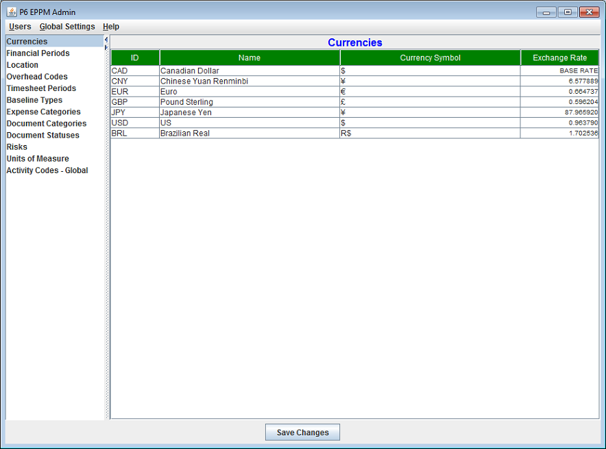 P6 Admin Plugin screen shot