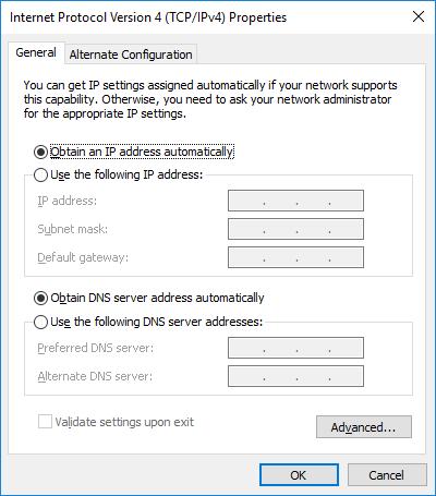 Internet Protocol Properites